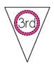 3rd Grade Rocks Pennant Banner