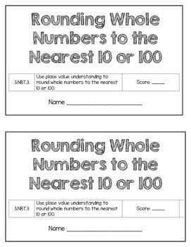 3rd Grade Rounding Assessment - 3.NBT.3
