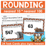 Rounding Task Cards (Scoot Game) and Printables