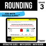 3rd Grade Rounding to Nearest 10 and 100   Digital Centers   Google Classroom™