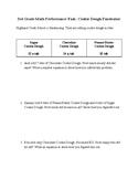 3rd Grade SBAC Math Performance Task: Cookie Dough Fundraiser