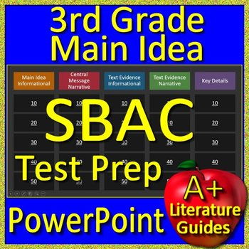 3rd Grade Smarter Balanced Test Prep SBAC Main Idea and Text Evidence Game