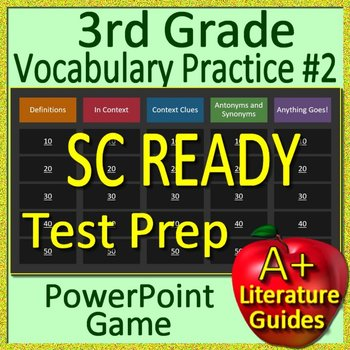 3rd Grade SC READY Test Prep Reading Vocabulary Review Game #2