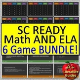 3rd Grade SC Ready Test Prep Math and ELA Games Bundle - 6 PowerPoint Games