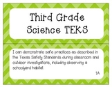 """3rd Grade SCIENCE TEKS """"I Can"""" Statement Posters"""