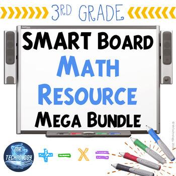 3rd Grade SMART Board / Interactive Whiteboard Math Resource Mega Bundle {CCSS}
