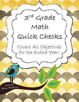 3rd Grade Math Quick Checks {For the Entire Year!}