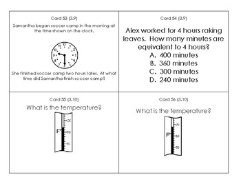 3rd Grade SOL Review Task Cards
