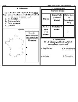 3rd Grade SOL Social Studies Spiral Review #24