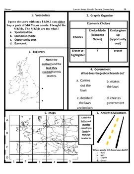 3rd Grade SOL Social Studies Spiral Review #28