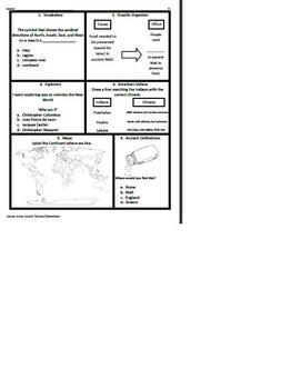 3rd Grade SOL Social Studies Spiral Review #9