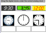 3rd Grade SOL TEI 3.11a Time/Clocks hour, minute, half past, quarter hour etc