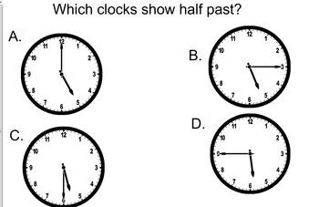 3rd Grade SOL TEI 3.11a Time/Clocks hour, minute, half past, quarter hour etc