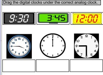 3rd Grade SOL TEI 3.11a Time/Clocks hour, minute, half pas