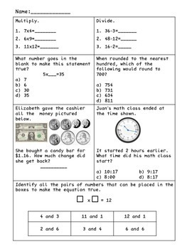 3rd Grade SOL Test Review