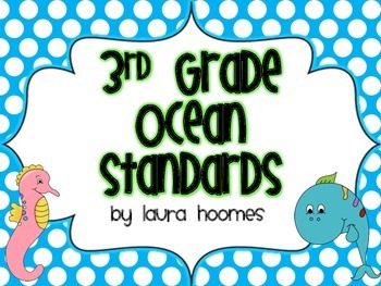 3rd Grade SOUTH CAROLINA Ocean Standards