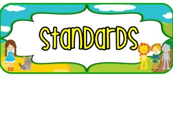 3rd Grade SOUTH CAROLINA Oz Standards