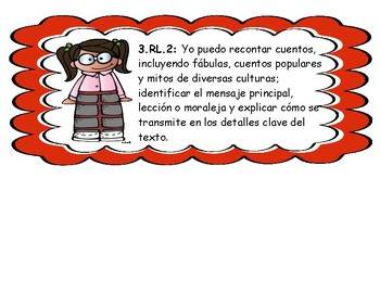 "SPANISH 3rd Grade Literacy ""I CAN"" Statements"