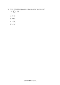3rd Grade STAAR Addition and subtraction (lessTestprep.com)