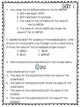 2018 STAAR Blitz Review  - Teacher Table Study Review Questions for 4th Grade