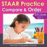 3rd Grade Math STAAR Practice {Compare & Order Numbers} TEKS 3.2A 3.2D 3.2BC
