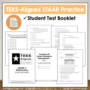 3rd Grade Math STAAR Practice {Compare & Order Numbers} TEKS 3.2A 3.2D 3.2B 3.2C