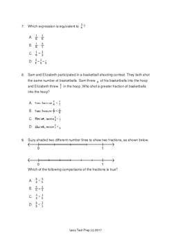 3rd Grade STAAR Fractions (lessTestprep.com)