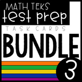 3rd Grade Math TEKS Task Card Bundle