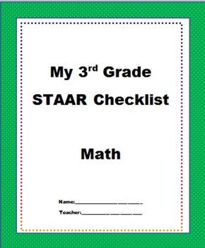 3rd Grade Staar Math Teks Checklist New Texas Math Standards