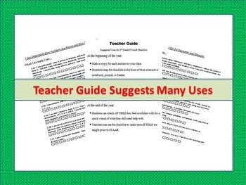 """3rd Grade STAAR Math TEKS Checklist """"NEW TEXAS MATH STANDARDS"""""""