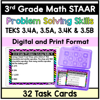 3rd Grade STAAR Math Problem Solving Task Cards