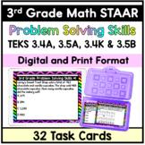 3rd Grade STAAR Math Problem Solving Task Cards