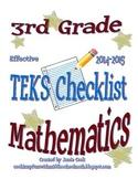 3rd Grade STAAR Math TEKS Checklist (NEW and old TEKS bundled)
