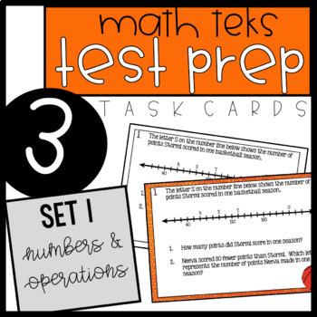 3rd Grade STAAR Math Task Cards - Set 1