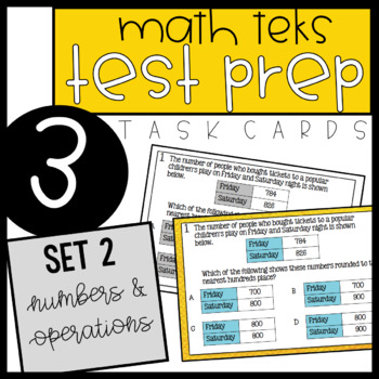 3rd Grade STAAR Math Task Cards - Set 2