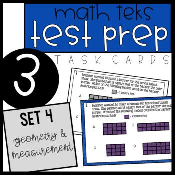3rd Grade Math TEKS Task Cards - Set 4
