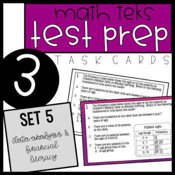 3rd Grade STAAR Math Task Cards - Set 5
