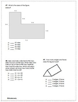 3rd Grade STAAR Math Tests, Plus Bonus Financial Literacy Test