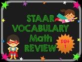 3rd Grade STAAR Math Vocabulary Review Set 1