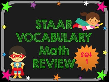 3rd Grade STAAR Math Vocabulary Review Set 1