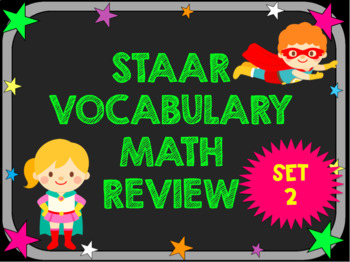 3rd Grade STAAR Math Vocabulary Review Set 2