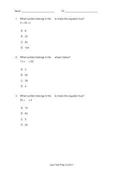 3rd Grade STAAR Multiplication and Division (lessTestprep)