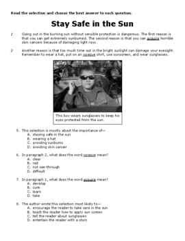 3rd Grade STAAR Persuasive Reading Passages Short by ...
