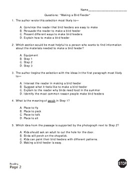3rd Grade STAAR Procedural Reading Passage Short by ...