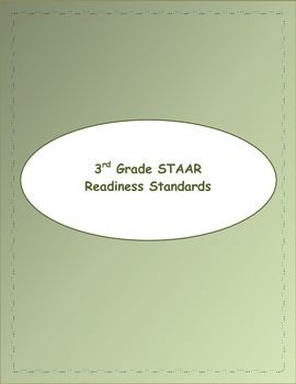 3rd STAAR Readiness Standards Review (Previous TEKS)