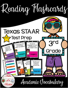 3rd Grade Staar Reading Academic Vocabulary Flashcards By Tales Of A
