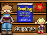 3rd Grade- STAAR Reading Academic Vocabulary Jeopardy Game Bundle