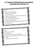 3rd Grade STAAR Reading Academic Vocabulary Review #1 Crossword Puzzle