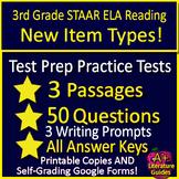 3rd Grade STAAR Test Prep Practice Tests Reading Review Bundle