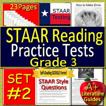 3rd Grade STAAR Reading Review Test Prep Practice Tests Bundle